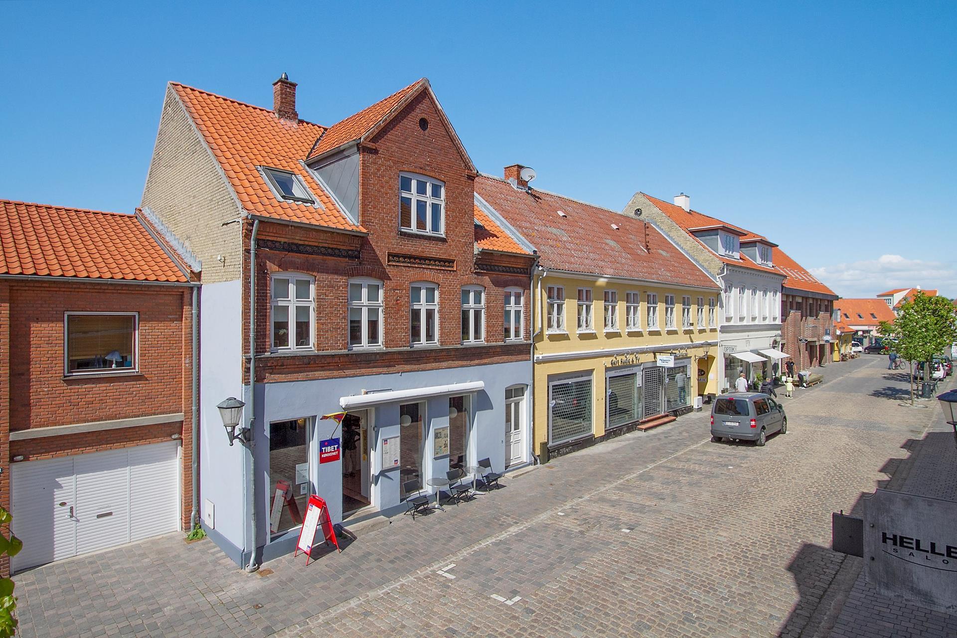Bolig/erhverv på Algade i Skælskør - Facade