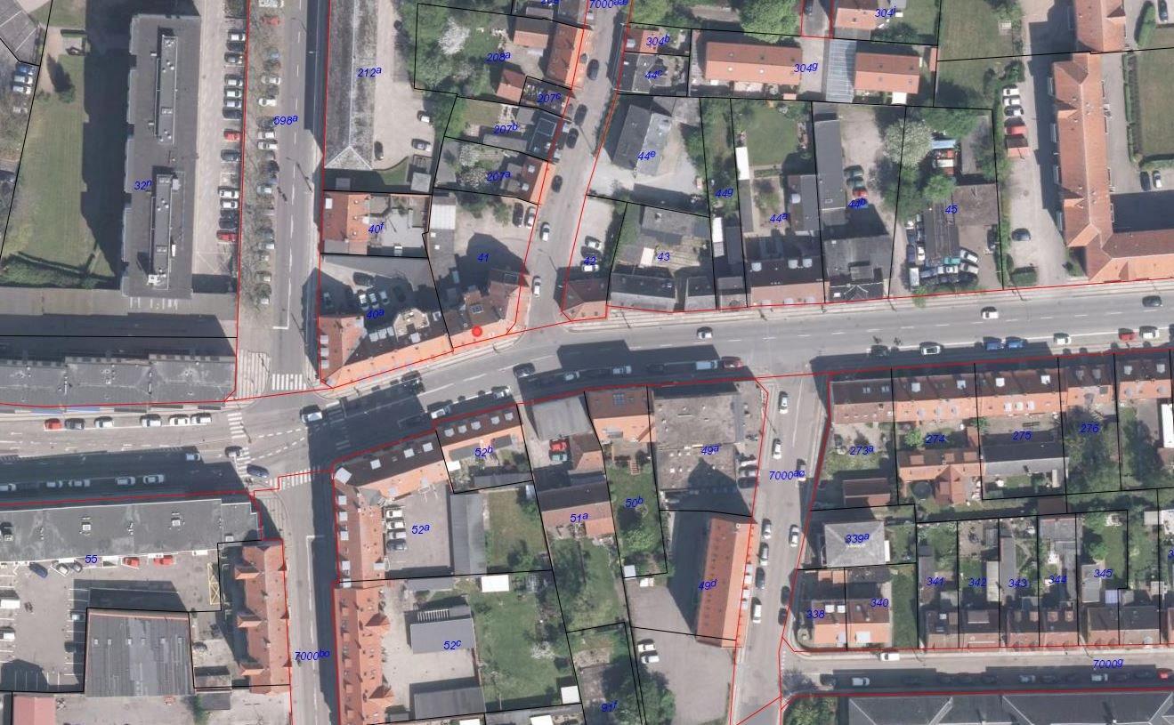 Boligudlejning på Labæk i Holbæk - Matrikelkort