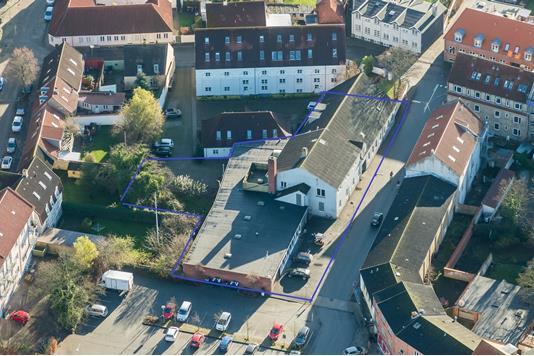 Projektejendom på Klingeberg i Slagelse - Luftfoto