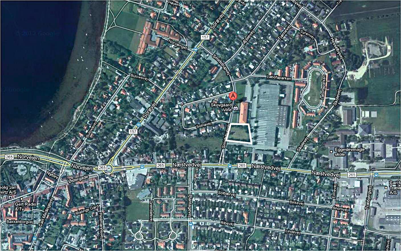 Erhvervsgrund på Smidstrupvej i Skælskør - Oversigtskort