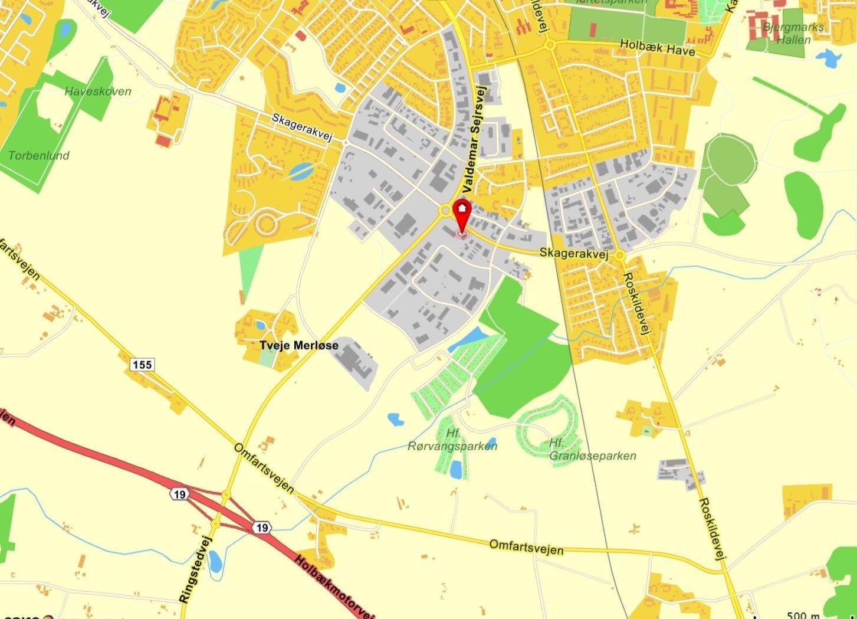 Erhvervsgrund på Bødkervej i Holbæk - Kort