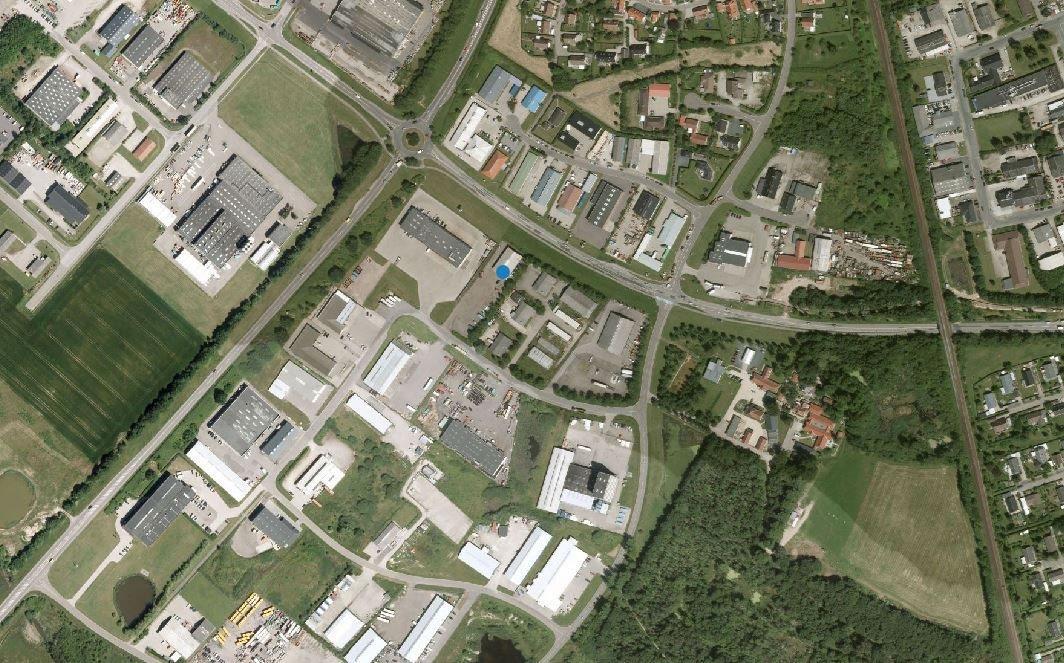 Erhvervsgrund på Bødkervej i Holbæk - Luftfoto