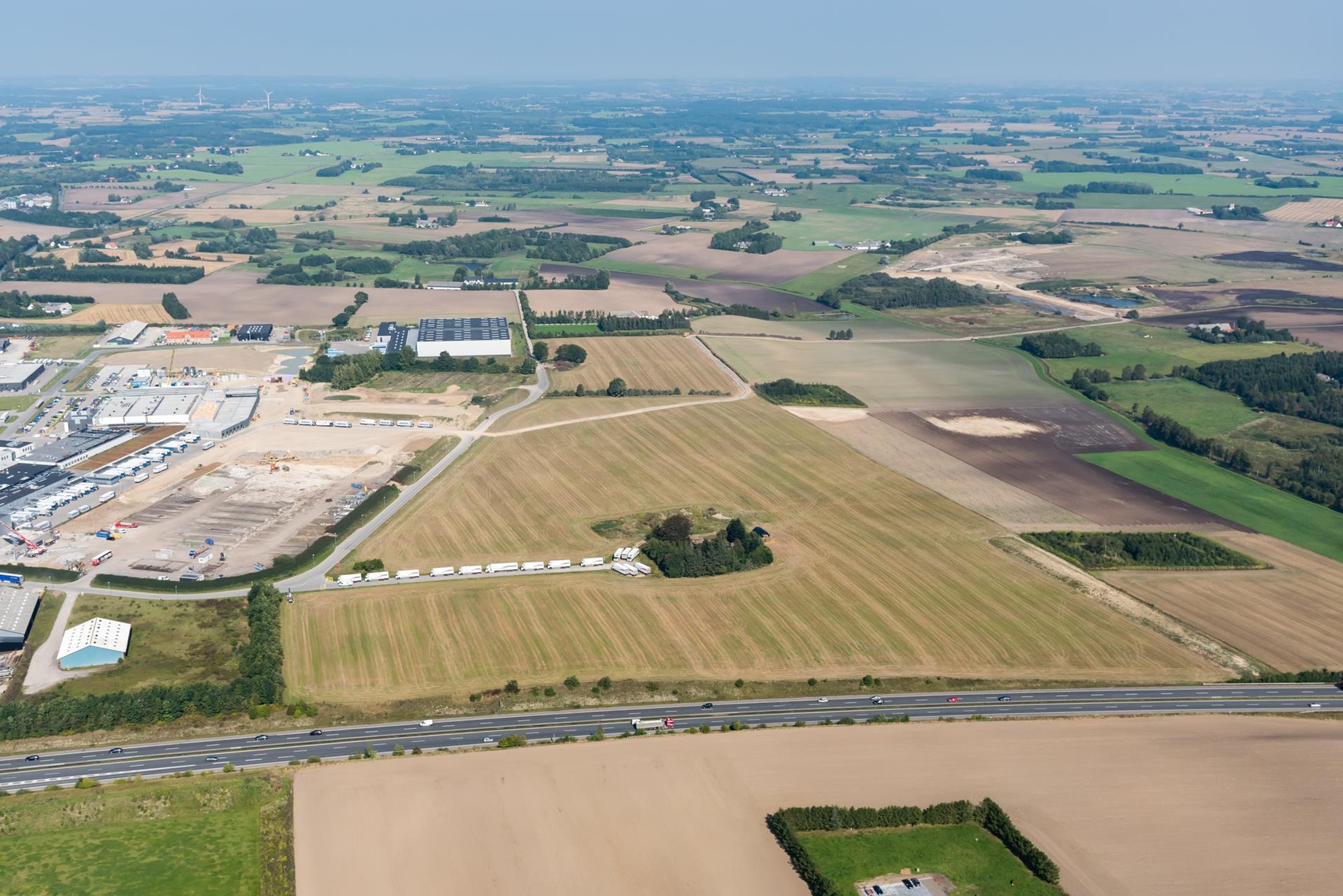 Erhvervsgrund på Tangagervej i Sorø - Luftfoto
