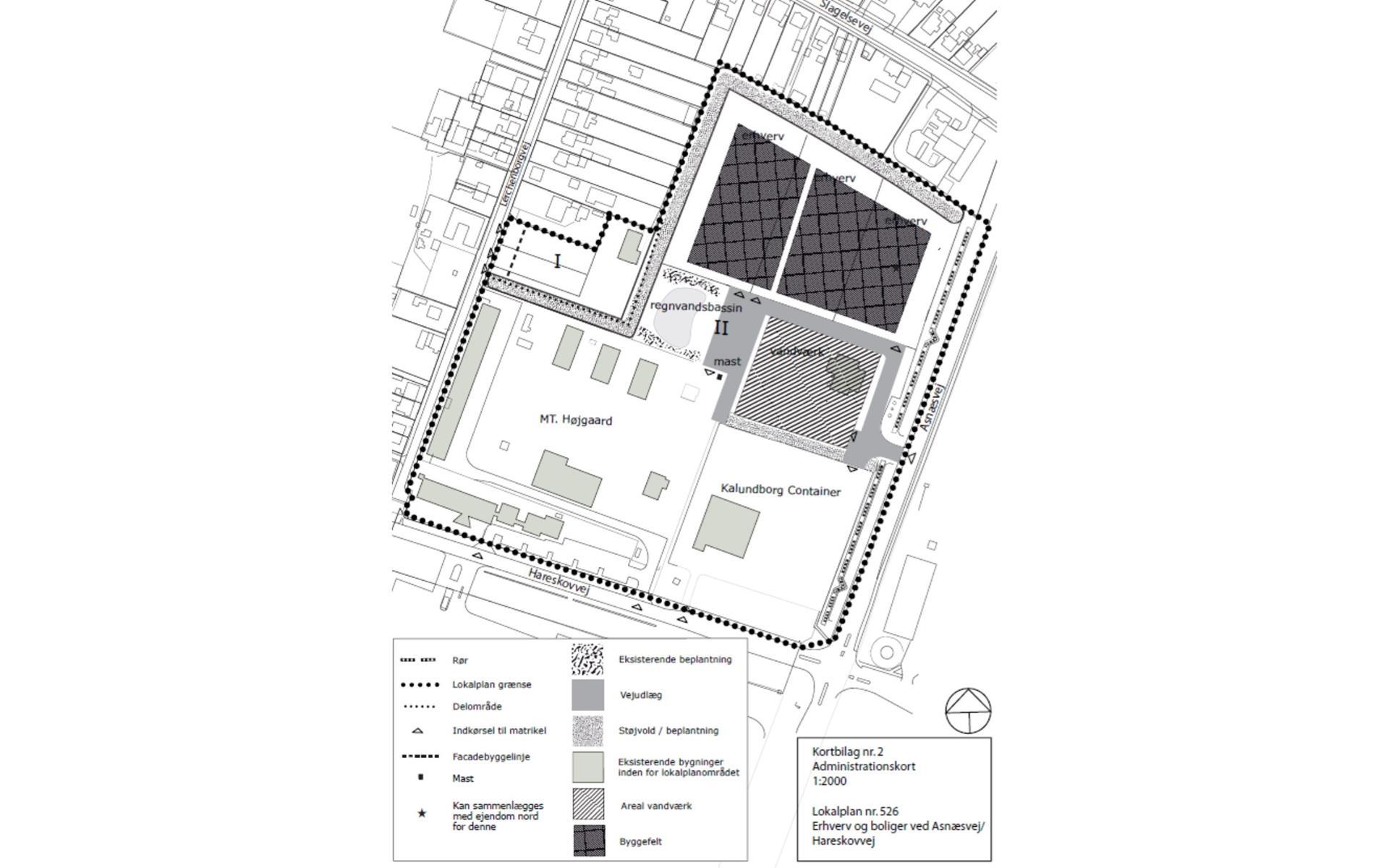 Erhvervsgrund på Asnæsvej i Kalundborg - Plantegning