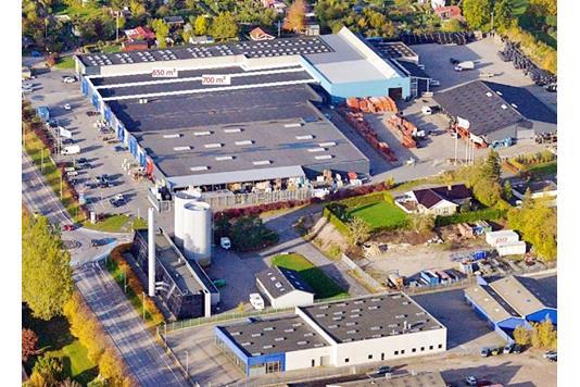 Detail på Industrivej i Sorø - Luftfoto
