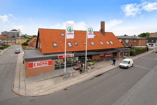 Bolig/erhverv på Enighedsvej i Nykøbing F - Ejendommen