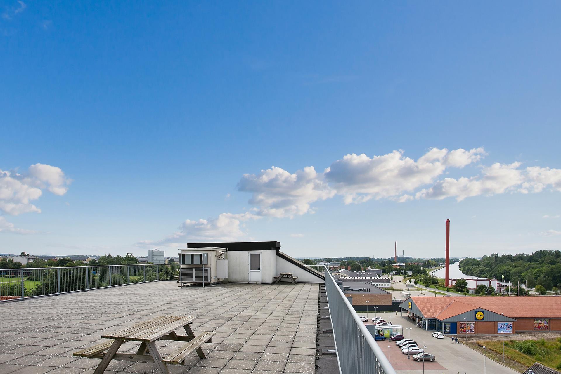 Boligudlejning på Vordingborgvej i Næstved - Tagterrasse