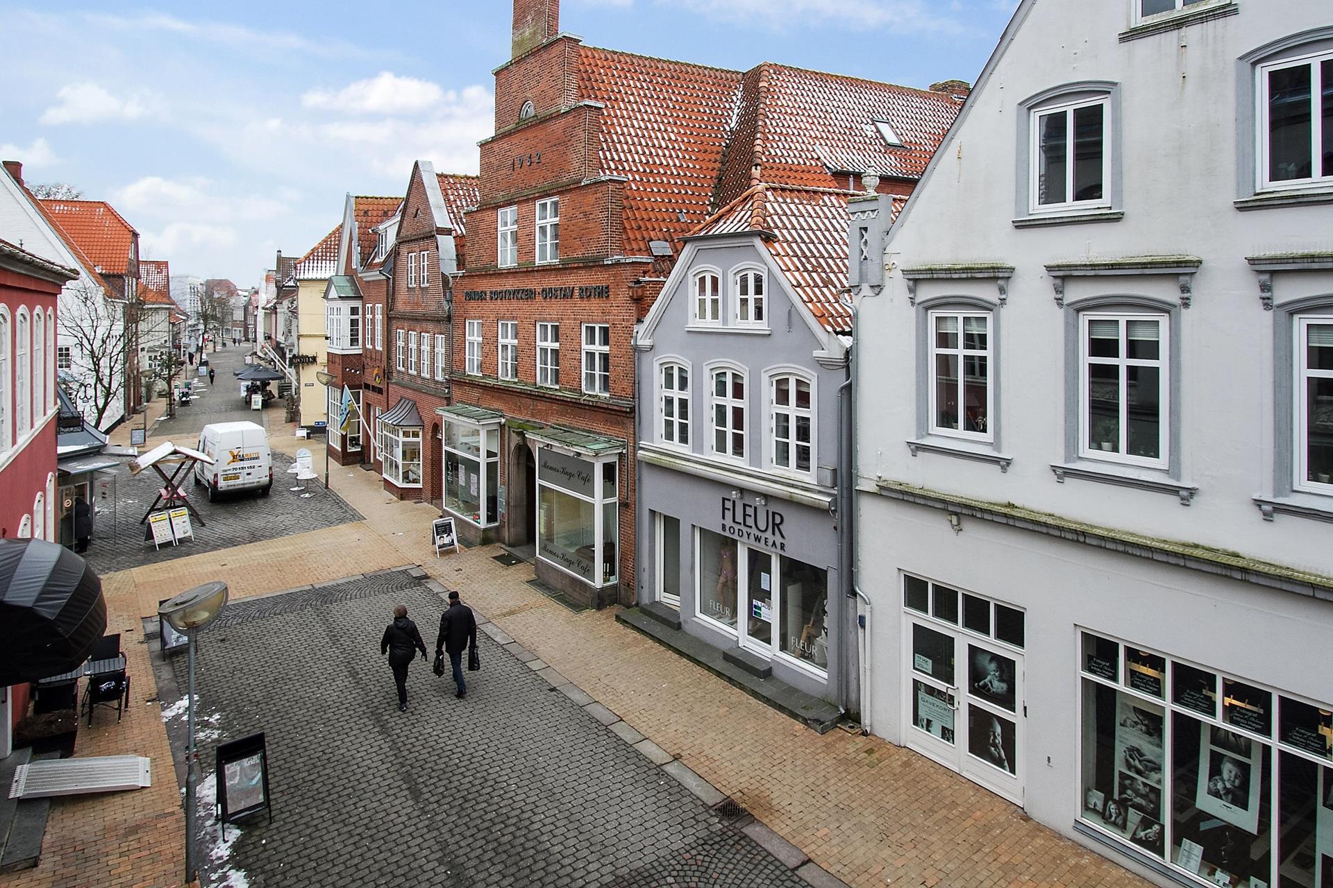 Bolig/erhverv på Storegade i Tønder - Facade