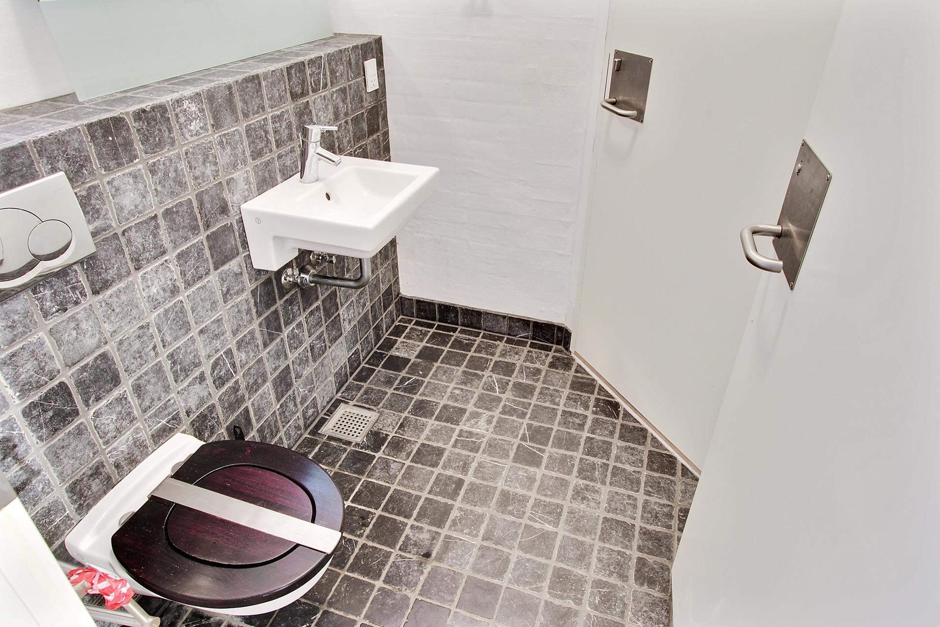 Detail på Storegade i Haderslev - Toilet
