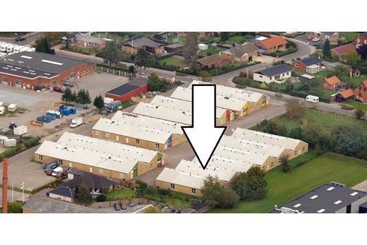Produktion/lager på Agtoftsvej i Sønderborg - Luftfoto