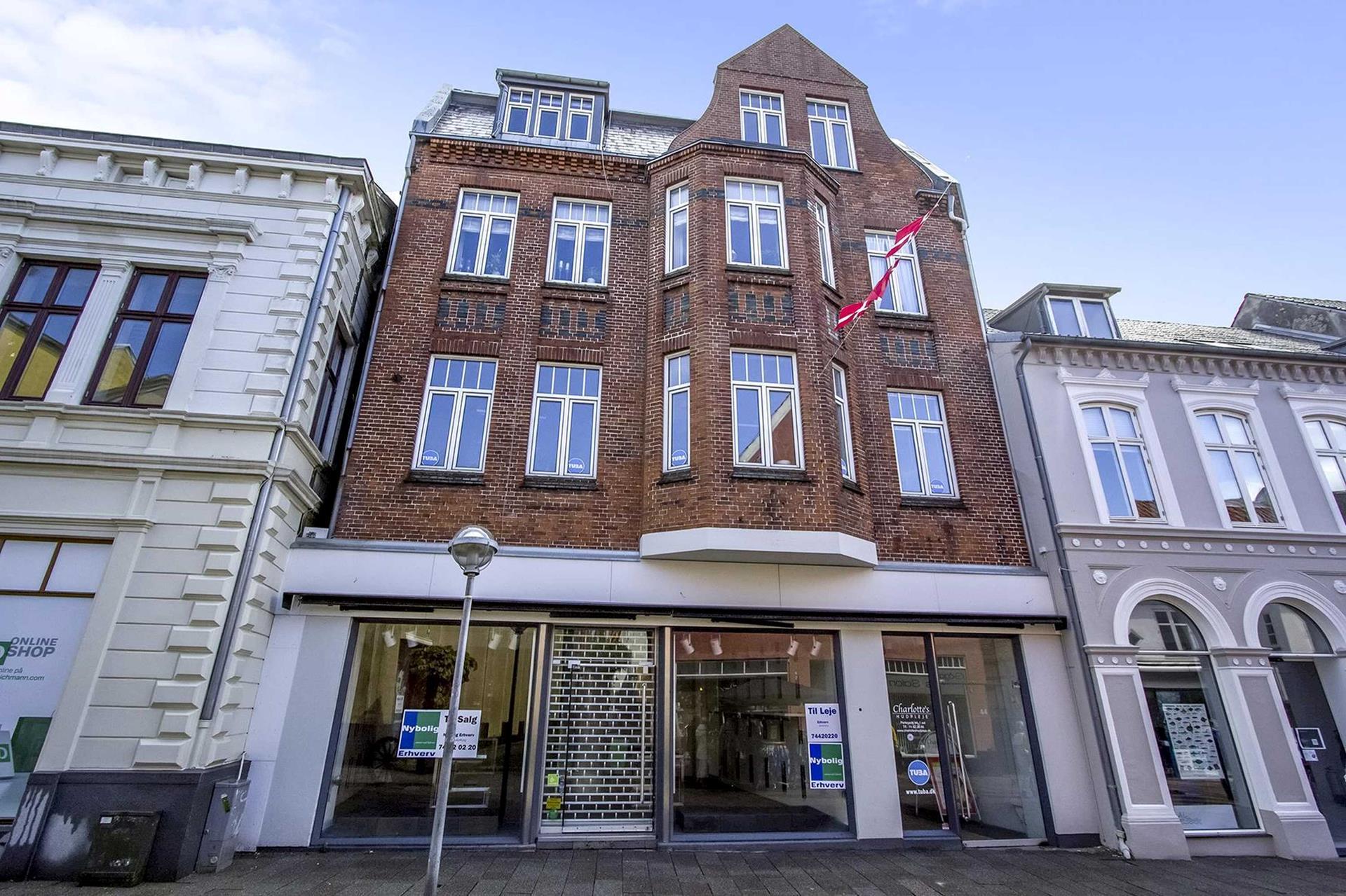 Bolig/erhverv på Perlegade i Sønderborg - Facade