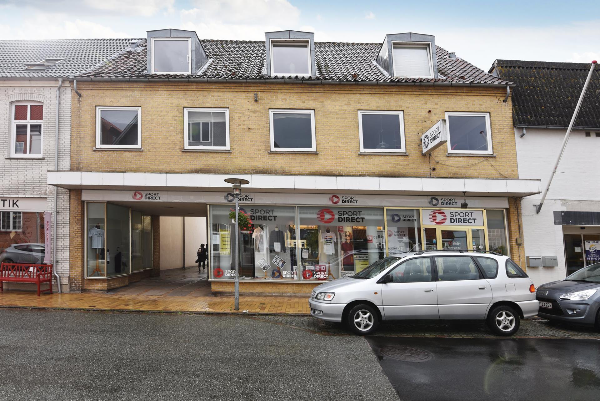 Bolig/erhverv på Nygade i Gråsten - Facade