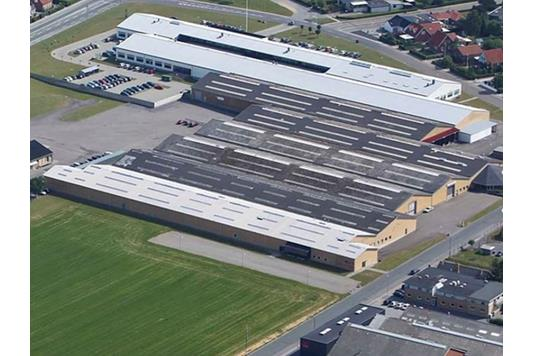 Produktion/lager på Fynsgade i Sønderborg - Luftfoto