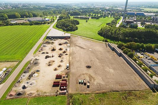 Erhvervsgrund på Vejlbyvej i Fredericia - Luftfoto