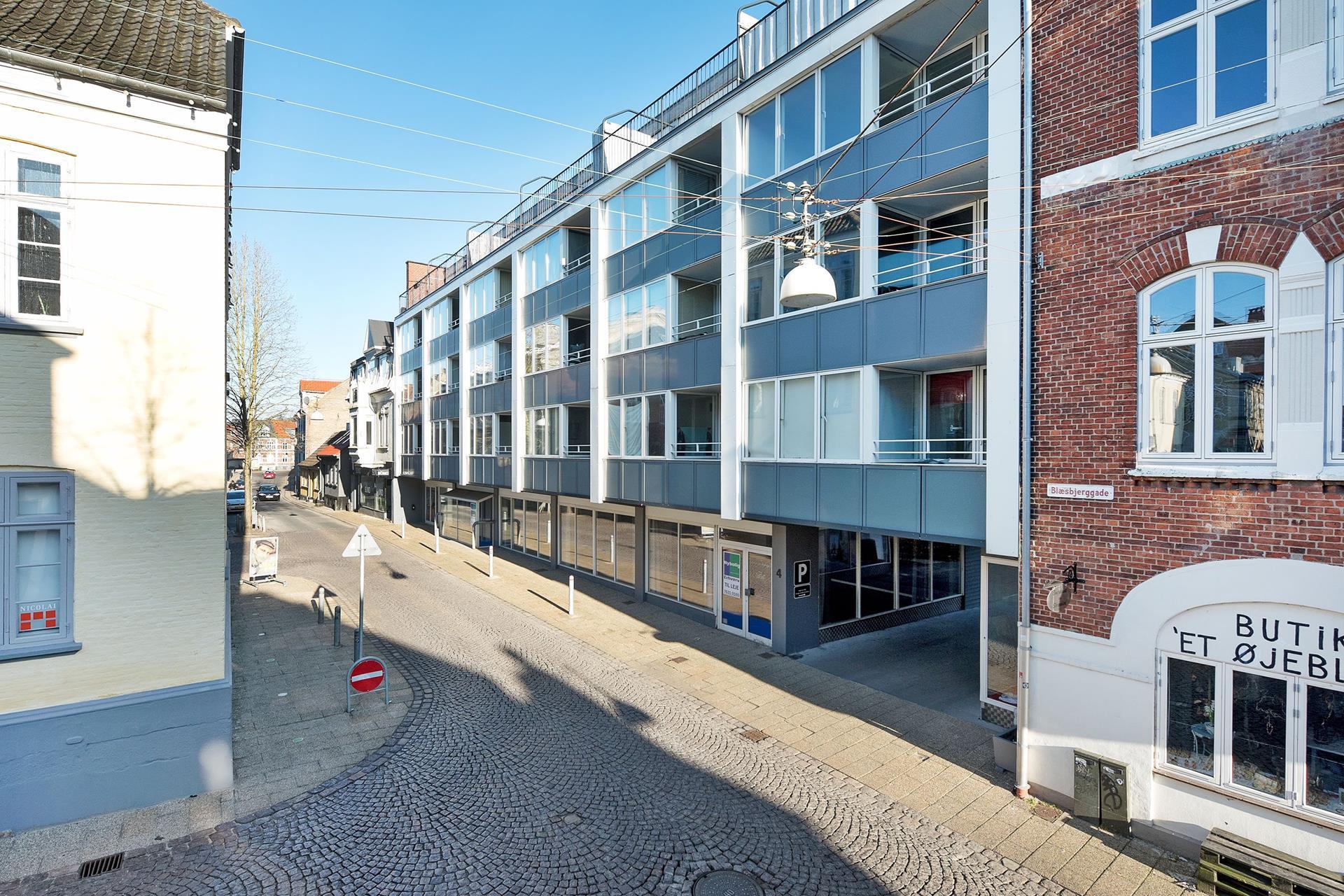 Detail på Blæsbjerggade i Kolding - Mastefoto