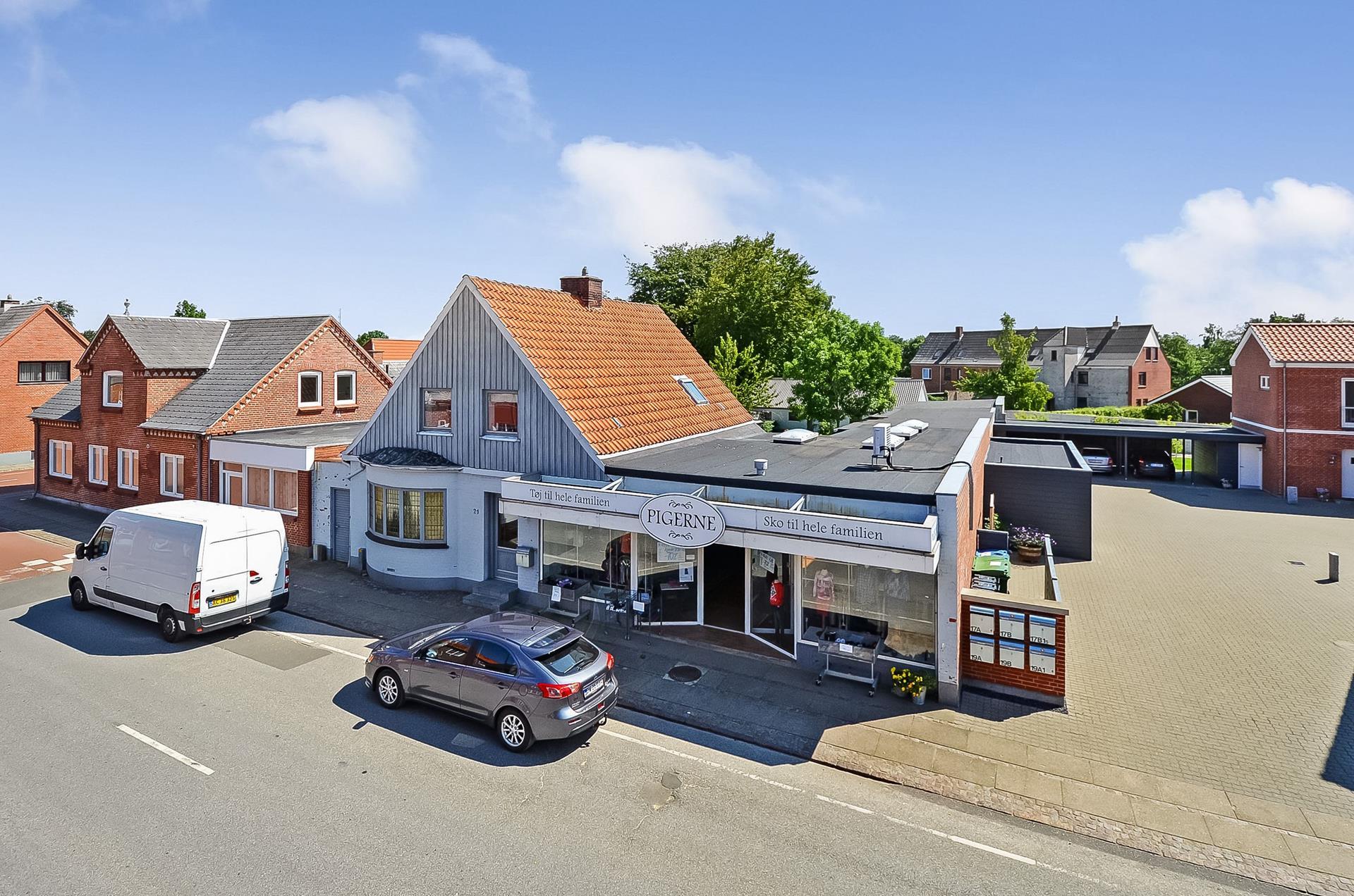 Bolig/erhverv på Storegade i Agerbæk - Ejendommen