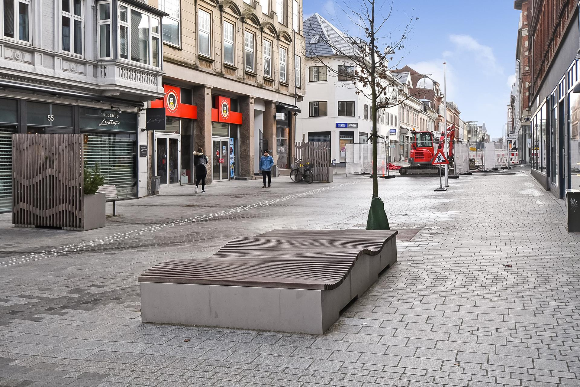 Detail på Kongensgade i Esbjerg - Område
