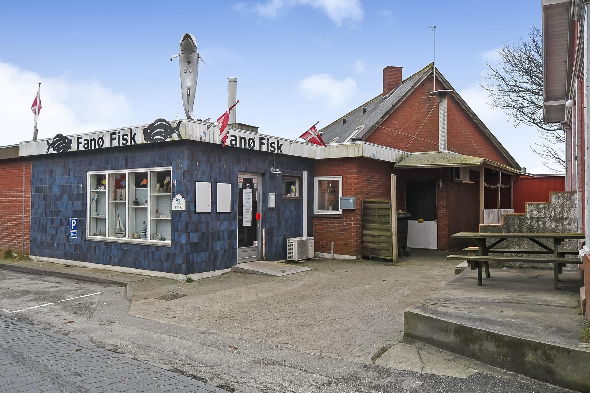Bolig/erhverv på Havnevej i Fanø - Ejendommen