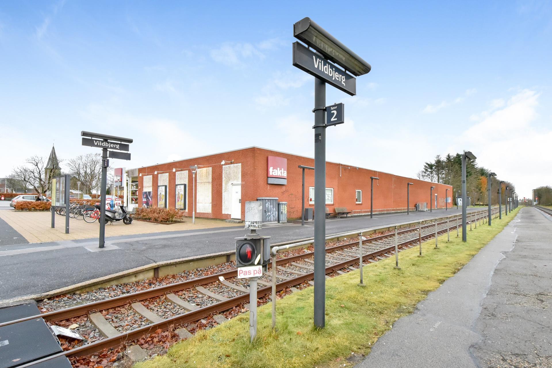 Detail på Jernbane Alle i Vildbjerg - Ejendommen
