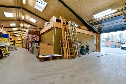 Produktion/lager på Fyrrely i Sunds - Hal