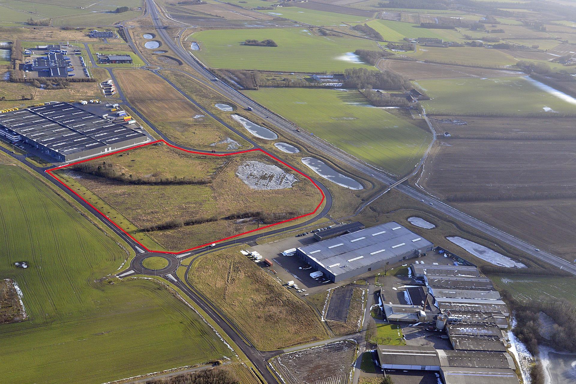 Erhvervsgrund på Logistikvej i Herning - Luftfoto