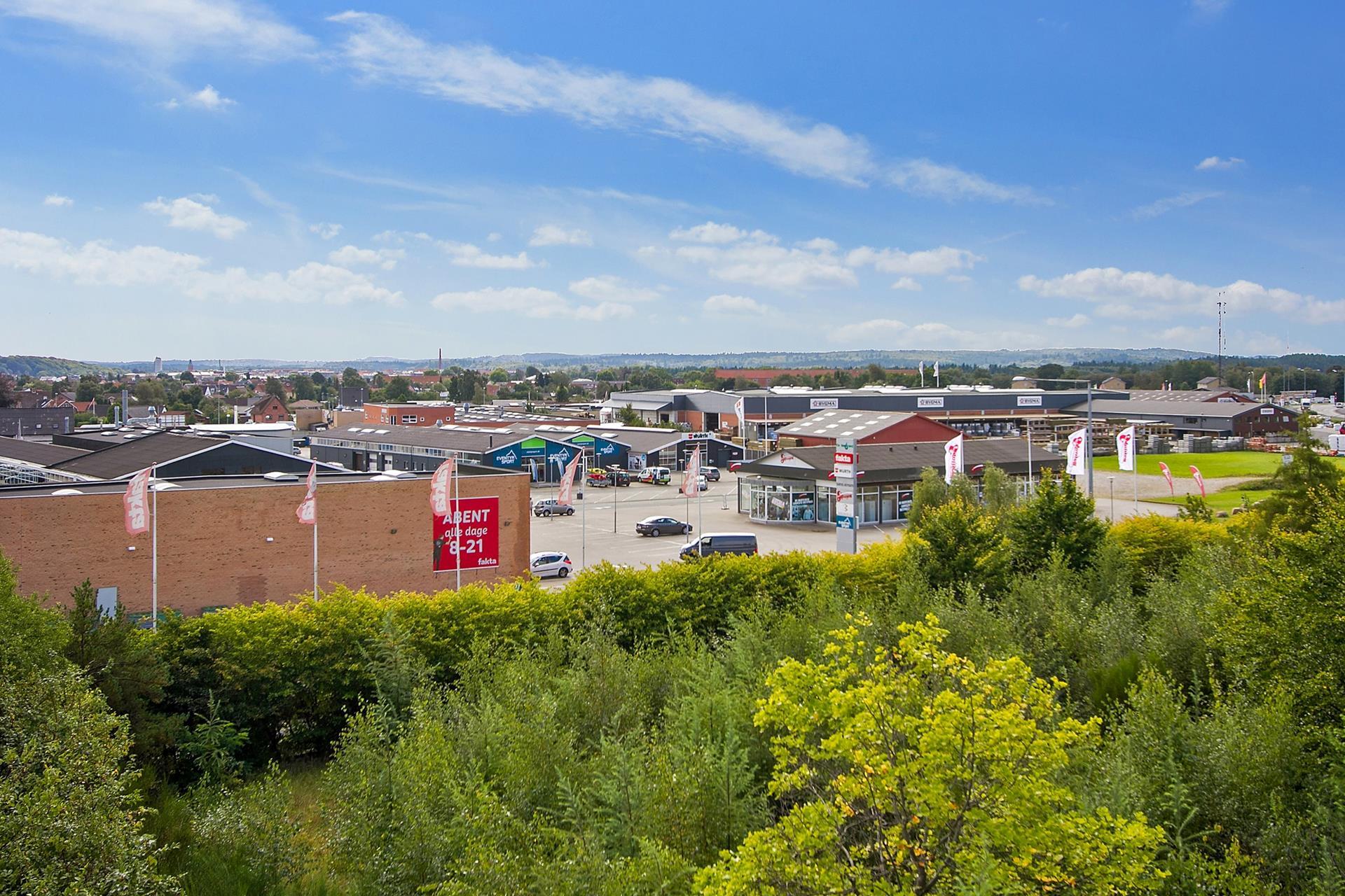 Erhvervsgrund på Viborgvej i Silkeborg - Ejendommen