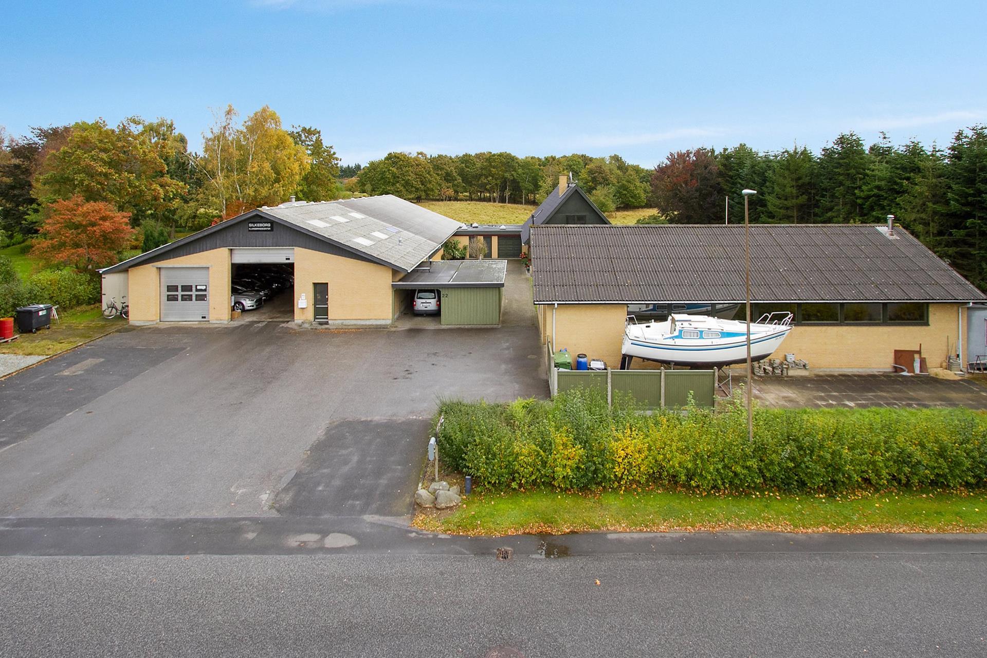 Bolig/erhverv på Thrigesvej i Silkeborg - Ejendommen