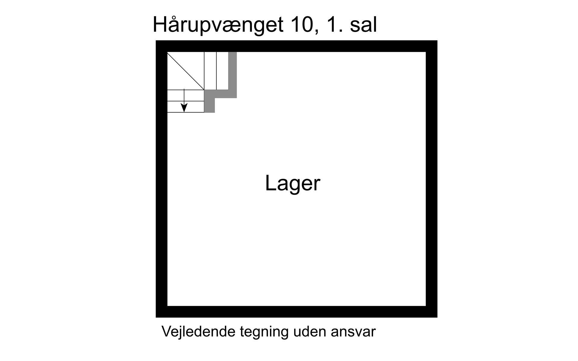 Bolig/erhverv på Hårupvænget i Silkeborg - 1. sal