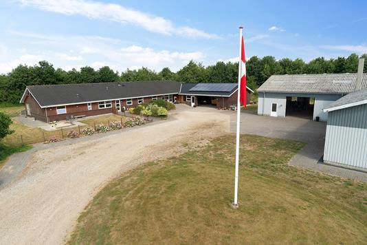 Produktion/lager på Sønderkrogen i Silkeborg - Set fra vejen