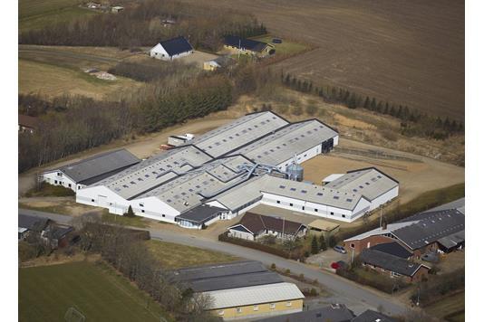Produktion/lager på Ringvej i Spøttrup - Luftfoto