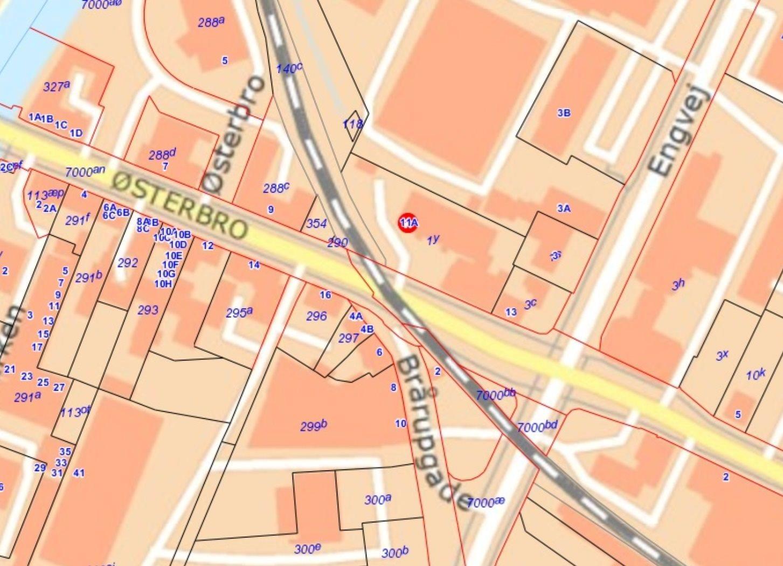 Bolig/erhverv på Østerbro i Skive - Kort