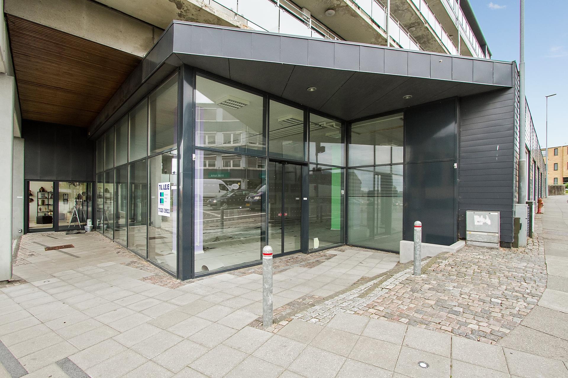 Detail på Søndergade i Skive - Indgang