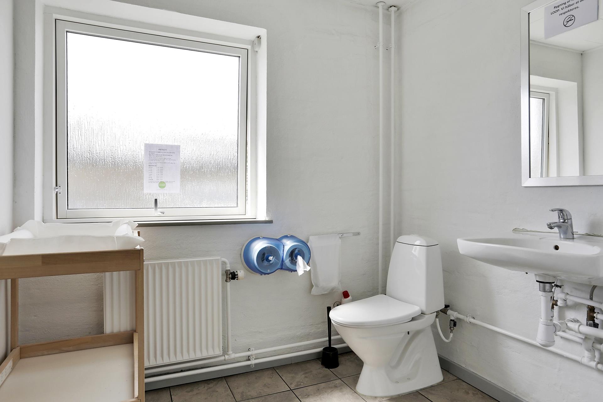 Detail på Falkevej i Viborg - Toilet