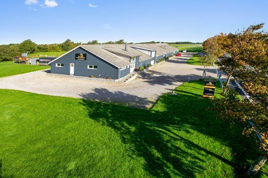 Produktion/lager på Gl. Aalborgvej i Tjele - Set fra haven