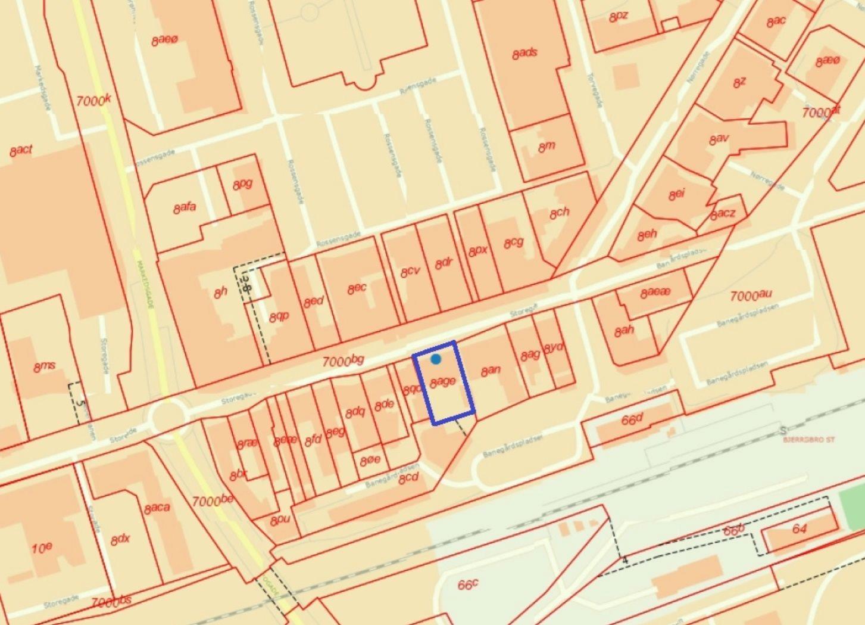 Bolig/erhverv på Storegade i Bjerringbro - Kort