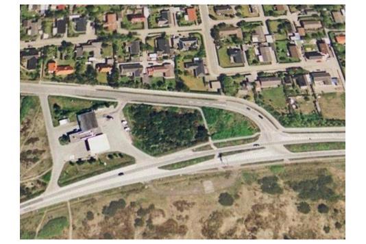 Detail på Højensvej i Skagen - Luftfoto
