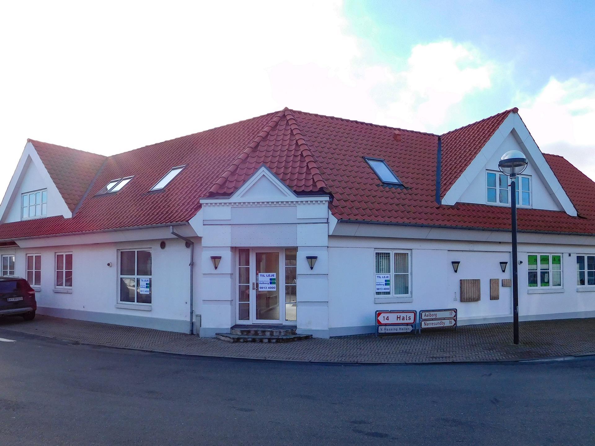 Detail på Halsvej i Vodskov - Ejendommen