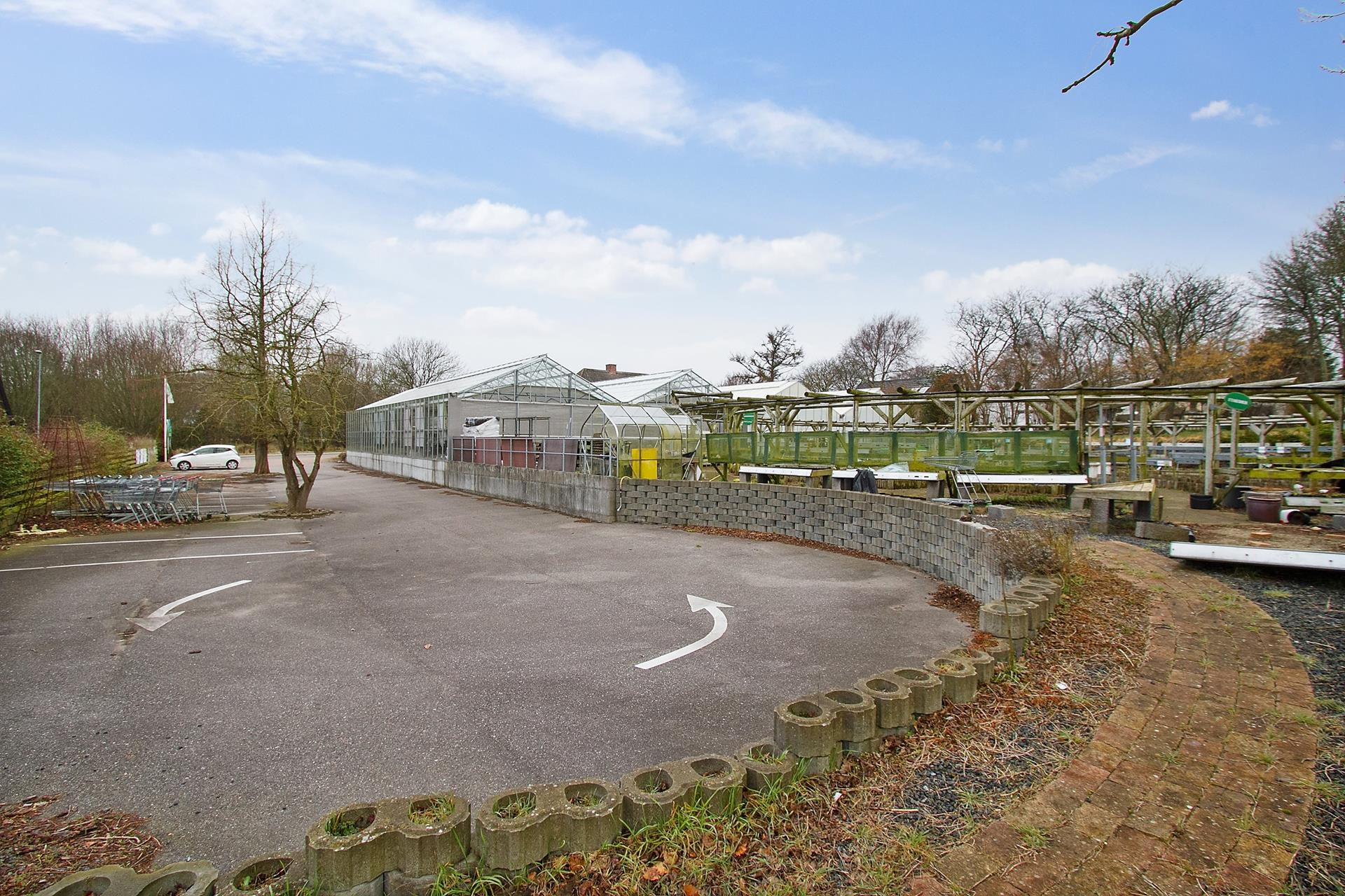 Bolig/erhverv på Aggersundvej i Fjerritslev - Parkeringsareal
