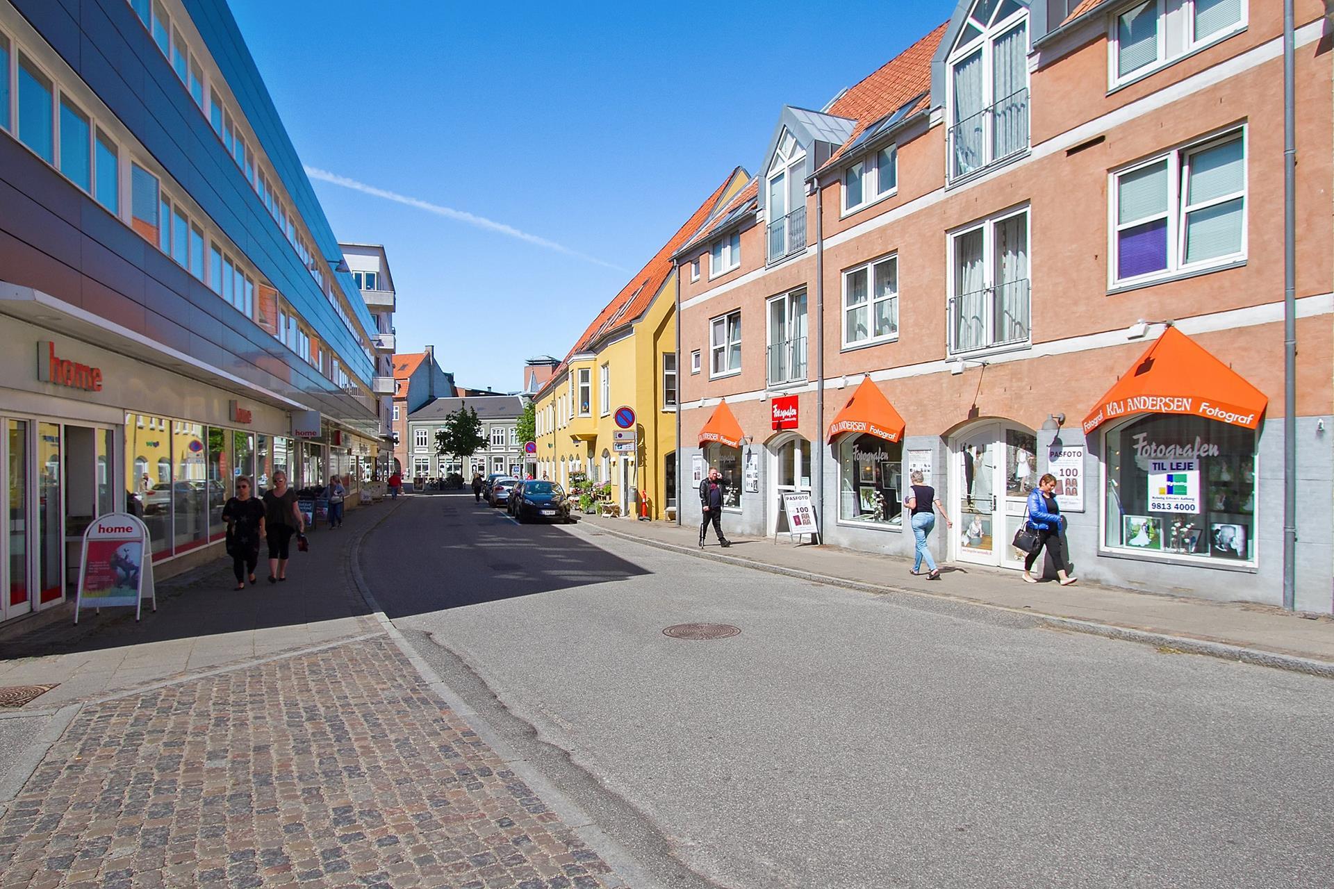 Detail på Skrågade i Nørresundby - Ejendommen