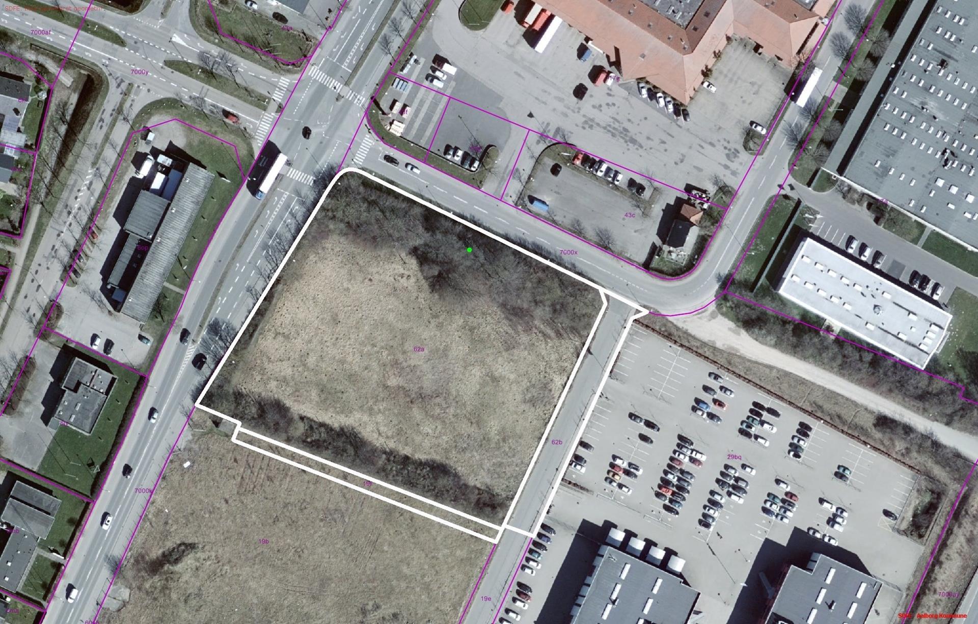 Erhvervsgrund på Østre Fælledvej i Nørresundby - Matrikelkort