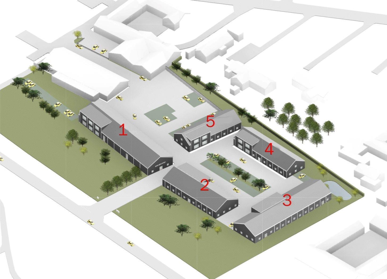 Erhvervsgrund på Karlfeldts Alle i Gistrup - Visualisering