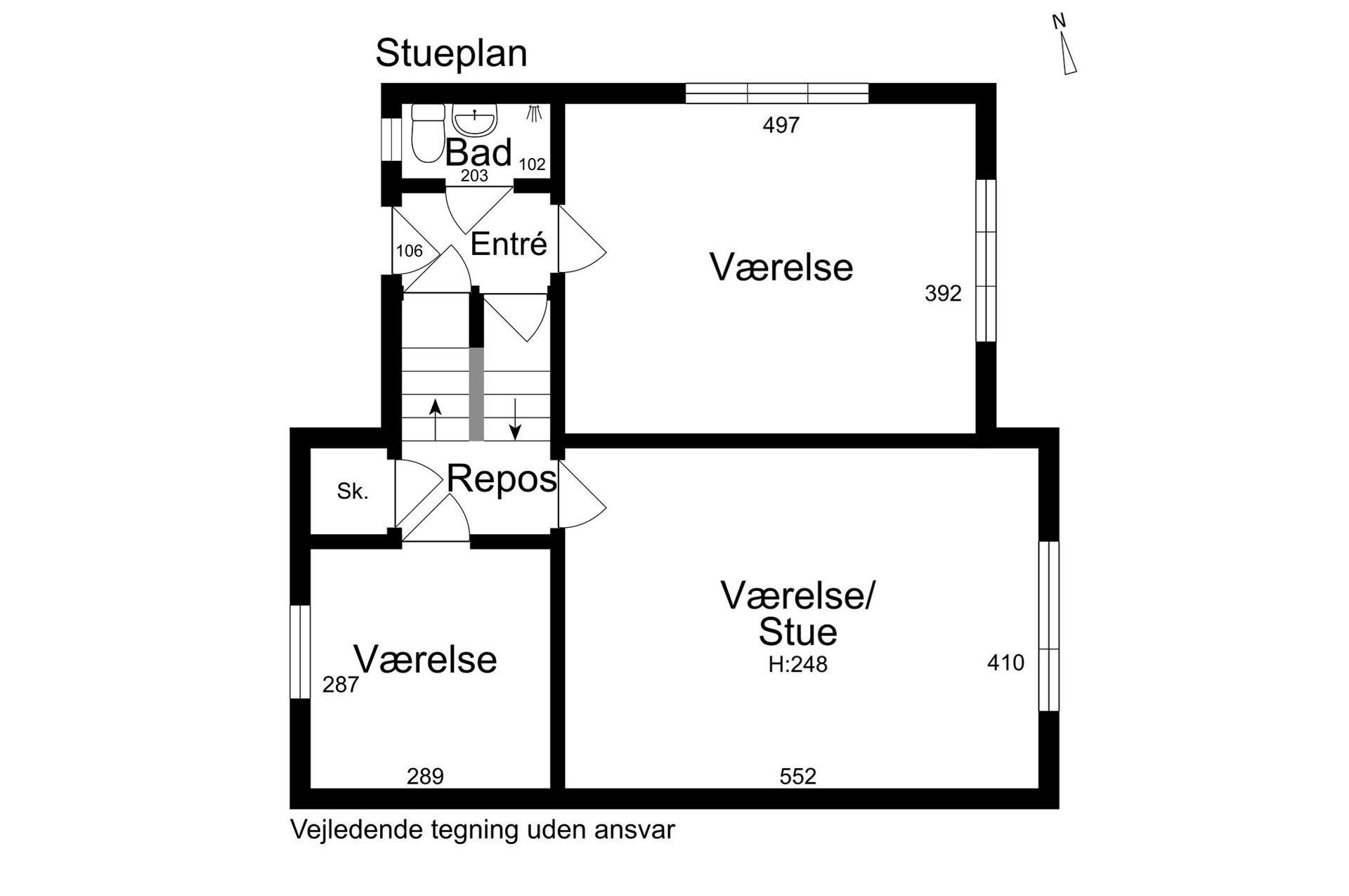 Boligudlejning på St.Blichers Vej i Aarhus V - Stueplan