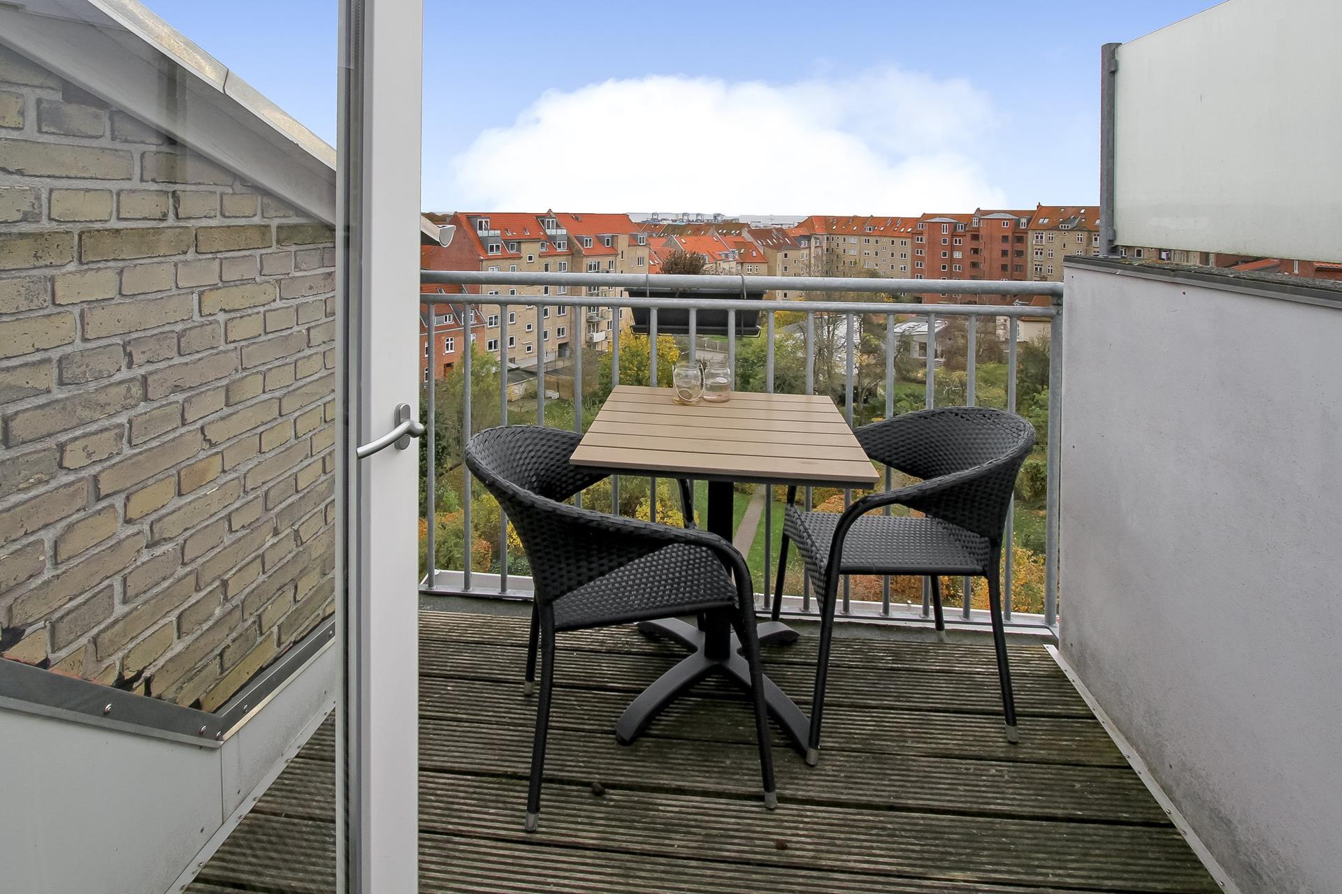 Boligudlejning på Nordre Ringgade i Aarhus N - Terrasse