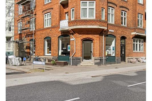 Detail på Hans Broges Gade i Aarhus C - Ejendommen