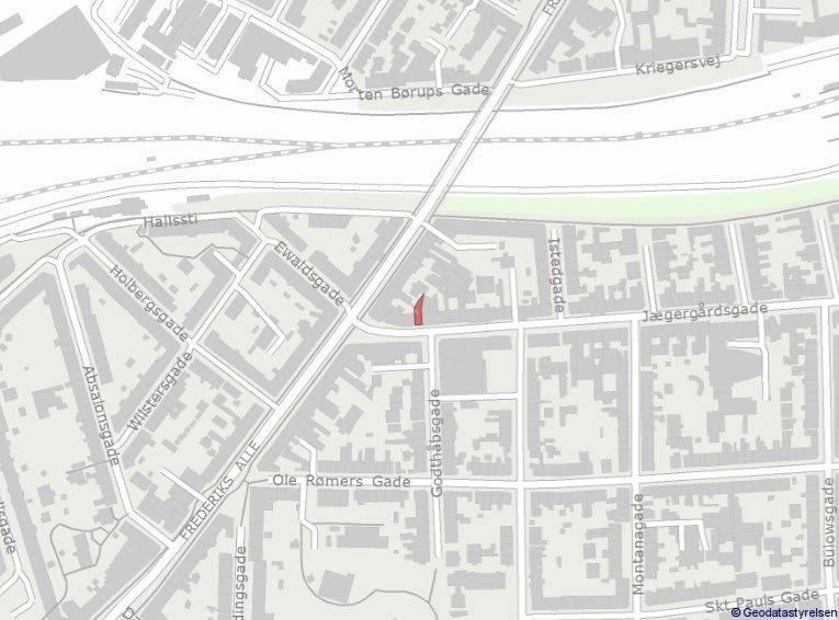 Bolig/erhverv på Jægergårdsgade i Aarhus C - Oversigtskort