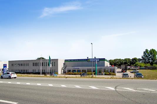 Produktion/lager på Haraldsvej i Randers SØ - Facade