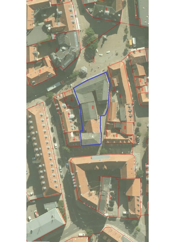 Bolig/erhverv på Rådhustorvet i Randers C - Kort