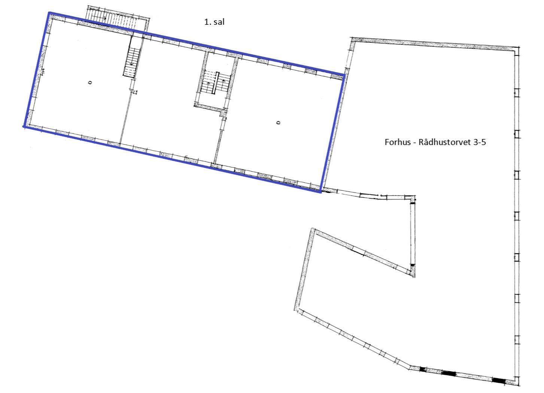 Bolig/erhverv på Rådhustorvet i Randers C - Plantegning