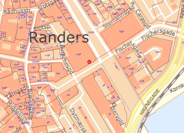 Bolig/erhverv på Dytmærsken i Randers C - Kort