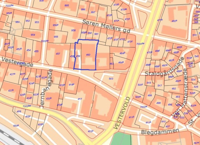 Boligudlejning på Vestergade i Randers C - Kort